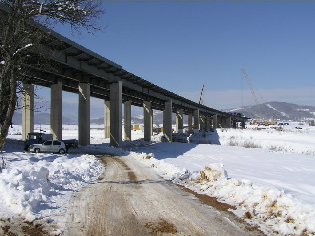 Engineering supervision on construction of the bridge