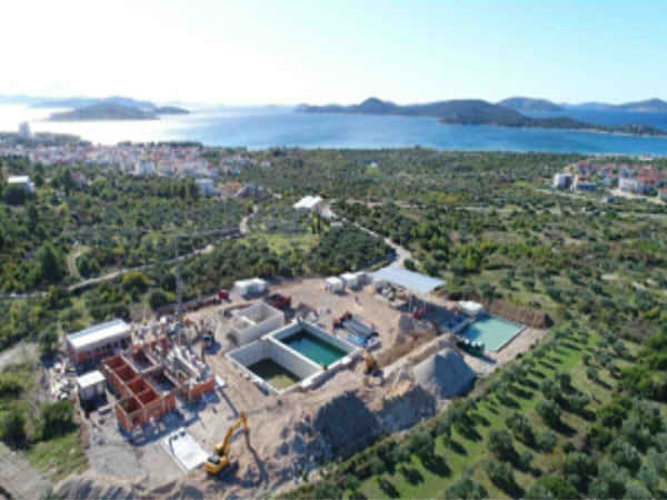 Construction of the Wastewater Treatment Plant
