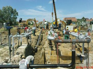 Engineering supervision of gas pipeline