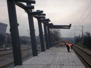 Train station construction supervision