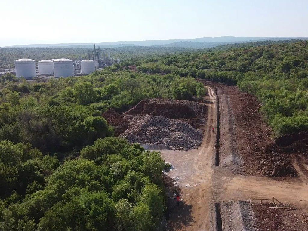Stručni nadzor izgradnje otpremnog plinovoda projekt Zlobin Omišalj