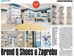 Jutarnji list published an article about the interior design of Q Shoes in Ilica